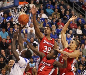 Duquesne shocked SLU on the road this past season, 71-64.