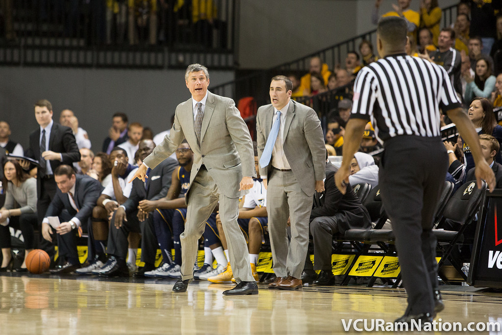 La Salle head coach, John Giannini during an A-10 conference game.