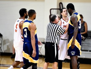 20th & Olney's Steve Smith nearly comes to blows with Syracuse alumn, Eric Devendorf, in last season's hotly-contested TBT game that resulted in a Beoheim's Army win.